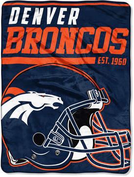 Northwest Company Denver Broncos Micro Raschel 46x60 40 Yard Dash Blanket