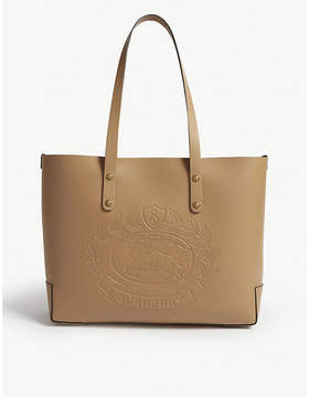 Burberry Leather crest small tote
