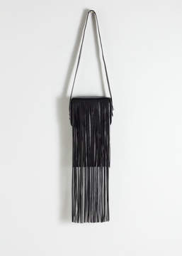 And other stories Leather Fringe Crossbody Bag