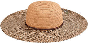 San Diego Hat Company Women's Paperbraid Solid Crown Mix Sun Brim
