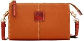 Dooney & Bourke Pebble Grain Small Janine Crossbody Shoulder Bag - CARAMEL - STYLE