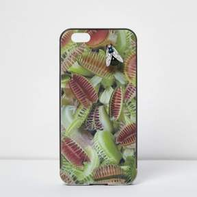 River Island Womens Green Design Forum fly trap iPhone 6 case