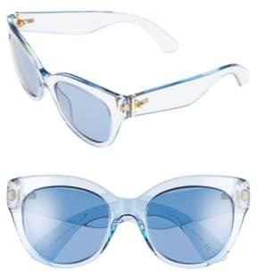 Women's Kate Spade New York 'Sharlots' 52Mm Sunglasses - Blue