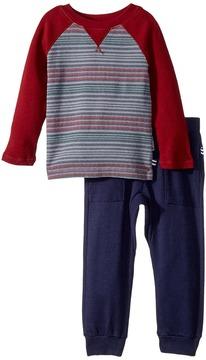 Splendid Littles Print Stripe Raglan Pants Set Boy's Active Sets