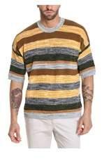 Roberto Collina Men's Rv28021rv2843 Yellow Linen Sweater.