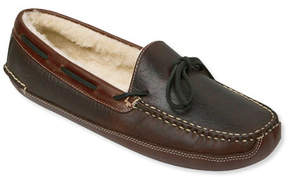 L.L. Bean Men's Bison Double-Sole Slippers, Shearling-Lined