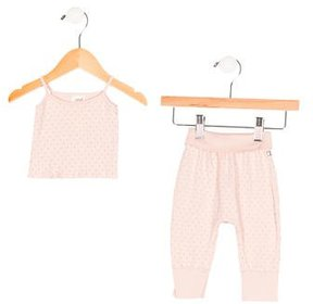 Oeuf Girls' Polka Dot Pant Set