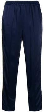 Bellerose cropped side-stripe trousers