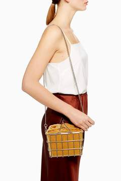 Topshop Mona Metal Basket Grab Bag