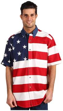 Roper Stars Stripes Pieced Flag Shirt S/S Men's Clothing