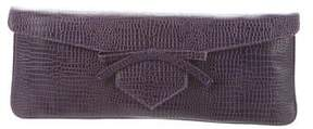 Emporio Armani Embossed Leather Clutch