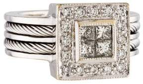 Charriol 18K Diamond Cluster Ring