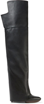 Givenchy Newton Leather Over-the-knee Boots - Black