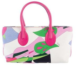 Emilio Pucci Leather-Trimmed Handle Tote