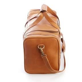 Royce Leather Royce Tan Colombian Leather Overnight Duffel Bag