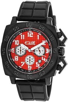 Equipe Tritium Push Chronograph Red Dial Men's Watch