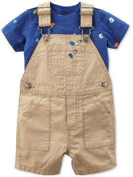 Carter's 2-Pc. Cotton T-Shirt & Overall Set, Baby Boys
