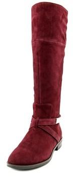 Alfani Egila Women Round Toe Suede Burgundy Knee High Boot.