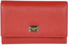 Dolce & Gabbana Dauphine Snap Wallet - ROSSO - STYLE