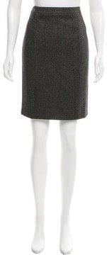 Andrew Gn Virgin Wool-Blend Printed Skirt w/ Tags