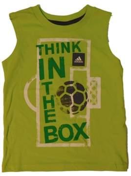adidas Boys Green Think Inside The Box Soccer Tank Top Sleeveless Shirt 5
