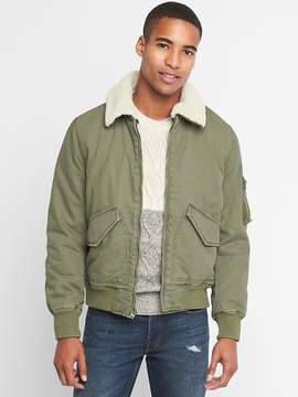 Gap Sherpa collar flight jacket