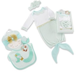 Baby Aspen Infant Girl's Simply Enchanted Mermaid 4-Piece Gift Set