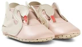 Stella McCartney Pale Pink Swan Crib Shoes