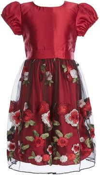 Xtraordinary Little Girls 4-6X Solid/Embroidered Fit-And-Flare Dress