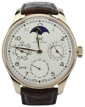IWC Portuguese Perpetual Calendar IW503302 Single Moon Rose 44mm Mens Watch