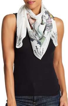 Rag & Bone Floral Dagger Print Silk Scarf