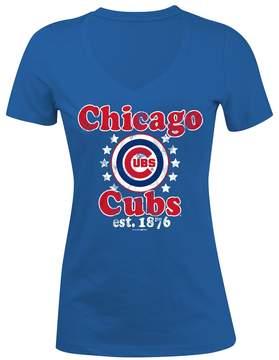 5th & Ocean Women's Chicago Cubs Jersey Tee