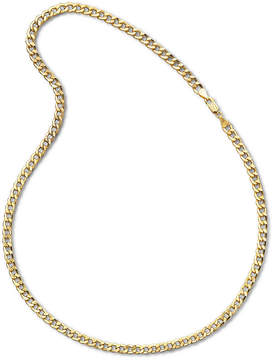 JCPenney FINE JEWELRY Mens 10K Yellow Gold 22 6mm Semi-Solid Curb Chain Necklace