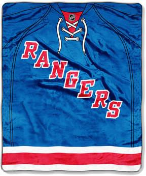 Northwest Company New York Rangers Raschel Stamp Throw Blanket