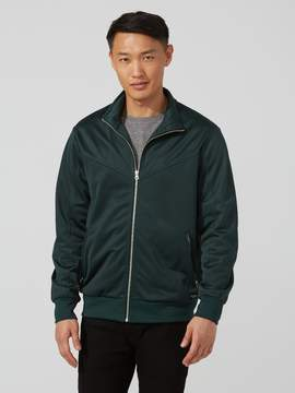 Frank and Oak Classic Full-Zip Track Jacket in Green Gables