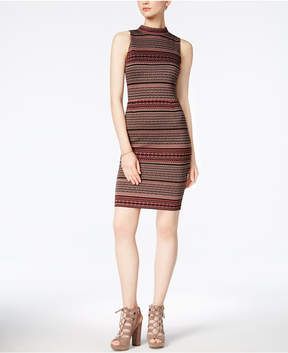 Bar III Mock-Neck Bodycon Dress, Created for Macy's