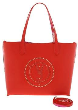 Versace EE1VRBBQB Red Tote Bag W/ detachable storage pouch and shoulder strap