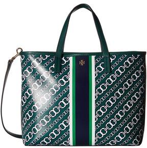 Tory Burch Gemini Link Small Tote Tote Handbags - GRAY GEMINI LINK BIAS - STYLE