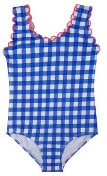 Hula Star Little Girl's Summer Skies Gingham One-Piece Swimsuit