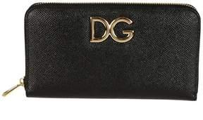 Dolce & Gabbana Logo Zip Around Wallet - PINK - STYLE