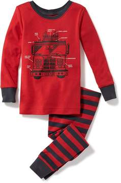Old Navy Fire Engine-Graphic Sleep Set for Toddler & Baby