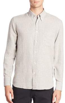 Billy Reid Patterned Long Sleeve Shirt