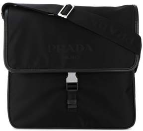 Prada leather trim shoulder bag