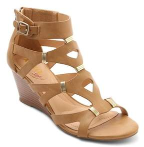 XOXO Womens Sarabeth Open Toe Casual Ankle Strap Sandals.