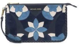 MICHAEL Michael Kors Daniela Floral Large Leather Wristlet Pouch - ADMIRAL - STYLE