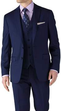 Charles Tyrwhitt Royal Blue Classic Fit Twill Business Suit Wool Jacket Size 36