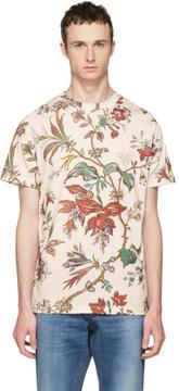 McQ Beige Floral T-Shirt