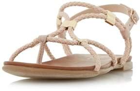 Head Over Heels *Head Over Heels by Dune Blush 'Layley' Flat Sandals