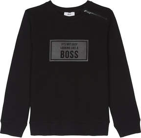 BOSS Logo cotton sweatshirt 4-16 years