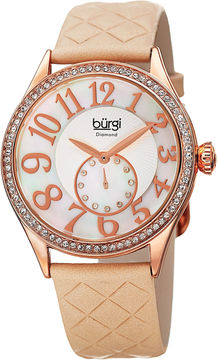Burgi Womens Gold Tone Strap Watch-B-141nu